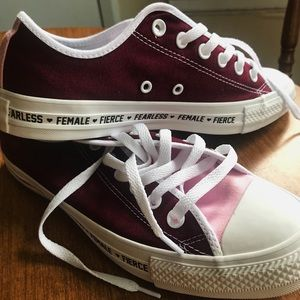 Brand-new Converse with Feminist Customization